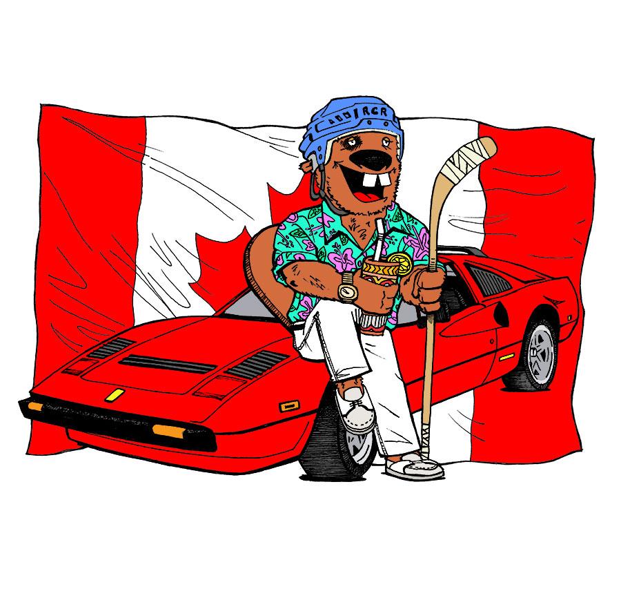 finkelsteins-car-illustration-electric-mustache-design-custom-artwork